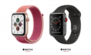 Apple Watch Series 5 and Series 3