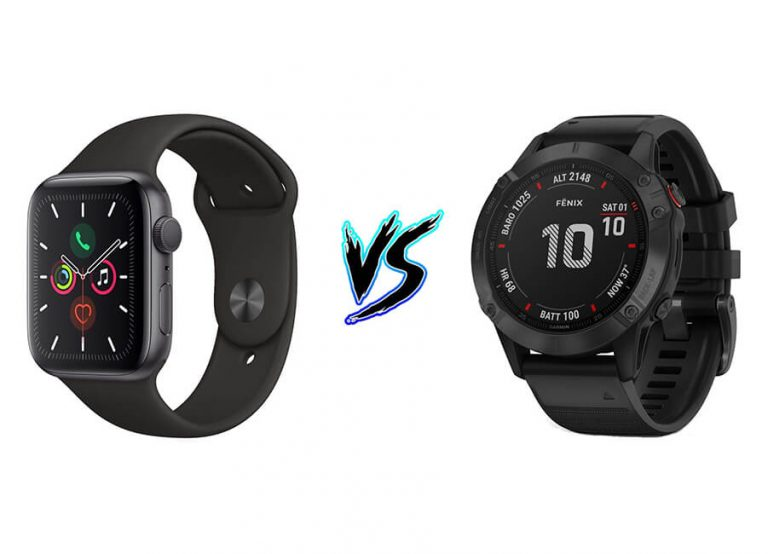 Comparing Garmin Fenix 6 Pro vs. Apple Watch Series 5 | TechDetects