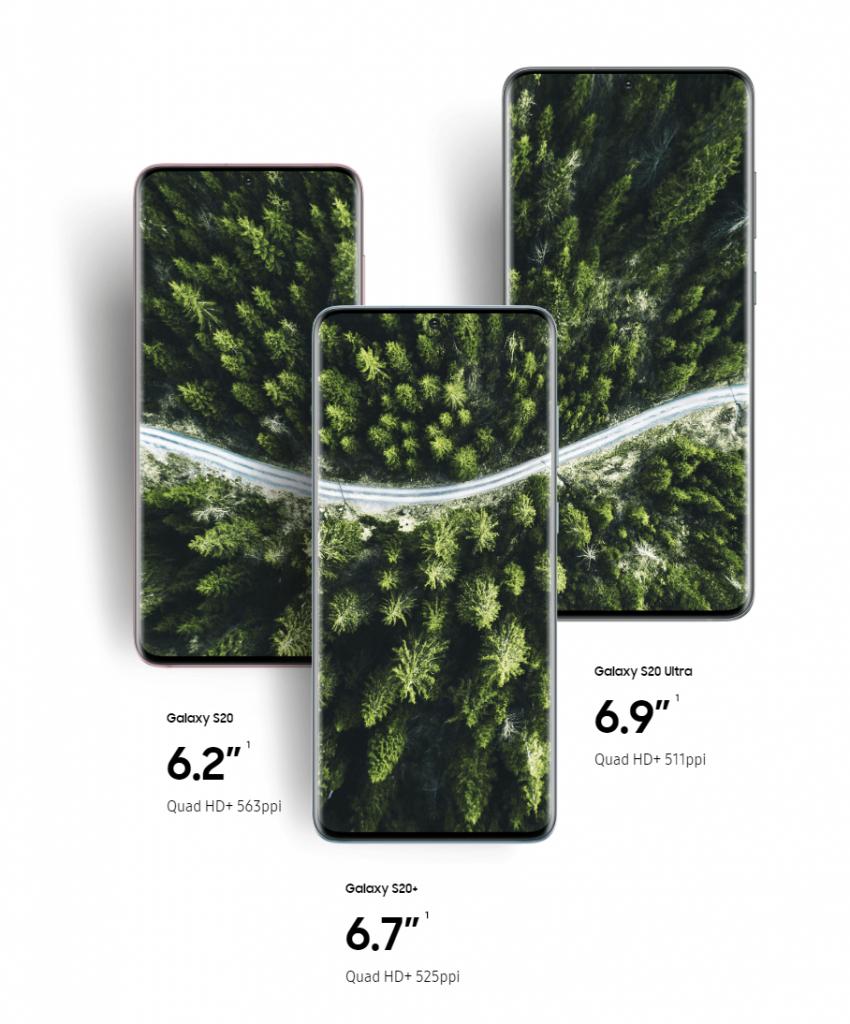 Comparing Samsung Galaxy S20, S20 plus S20 Ultra