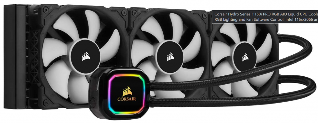 Corsair Hydro Series H150i PRO RGB AIO Liquid CPU Cooler