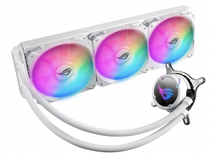 ASUS ROG Strix LC 360 RGB White Edition All-in-one Liquid CPU Cooler with Aura Sync RGB