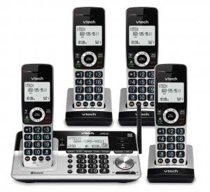 VTech VS113-4 Extended Range 4 Handset Cordless Phone